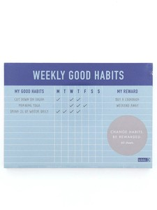 Kikki.K Weekly Habits Pad Inspiration Sticky Note Set