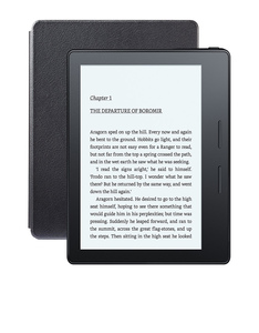 Kindle Oasis E-Reader Black Wifi With Leather Charging Cover