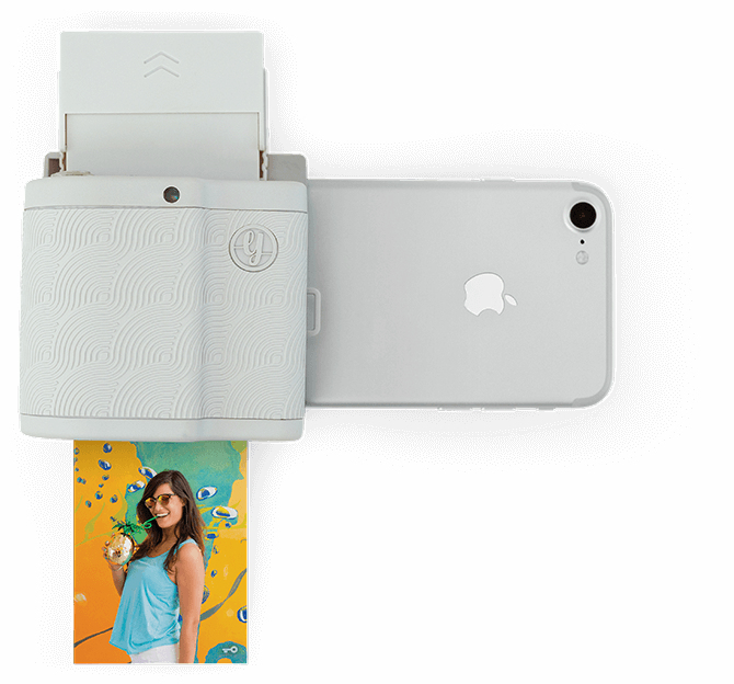 instant photo printer for iphone prynt pocket instant photo printer cool grey for iphone 17325