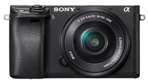 Sony Alpha a6300 Mirrorless Digital Camera with 16-50mm Lens Black