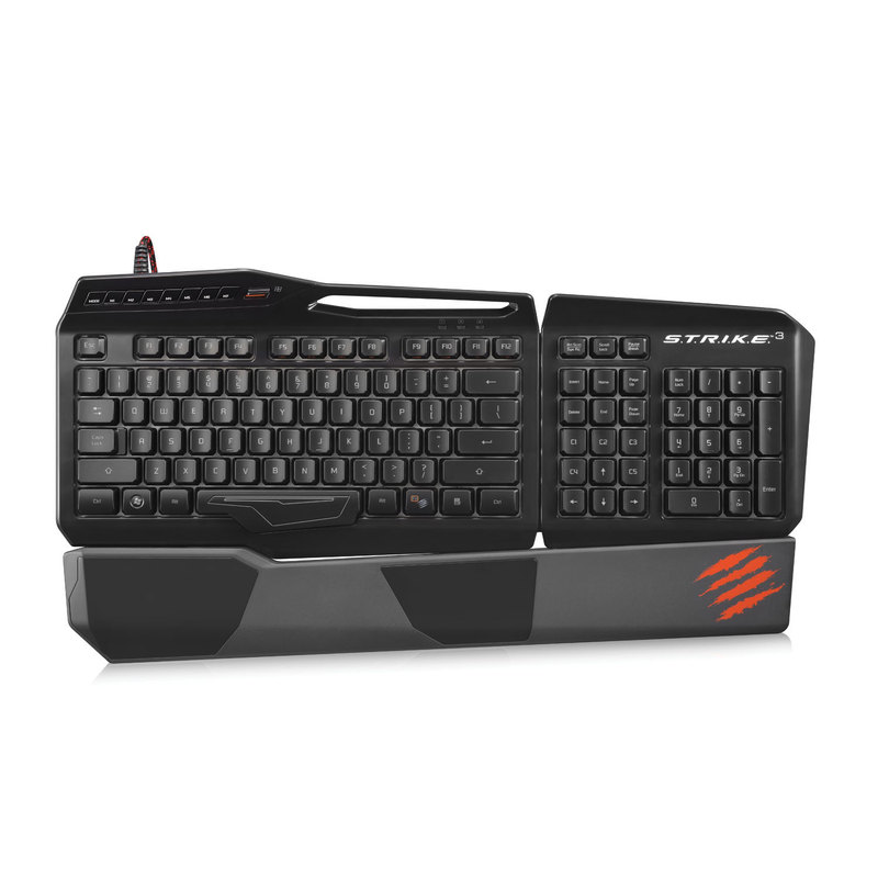 Madcatz Strike3 Gloss Black Gaming Keyboard Pc