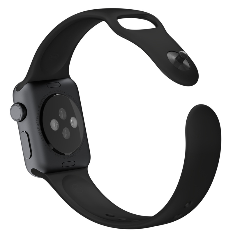 Apple Watch Black Sport Band 38mm With Space Grey Stainless Steel Pin