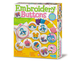 4M Embroidery Buttons Craft Kit