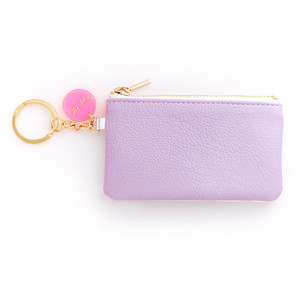 BAN.DO ZIP ZIP KEYCHAIN POUCH LILAC/SILVER