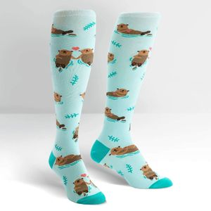 Sock It To Me Knee High Funky My Otter Half Socks