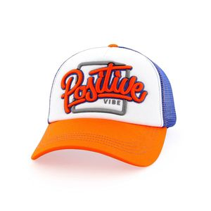 B180 Positive Vibe Men's Cap Orange/White/Blue