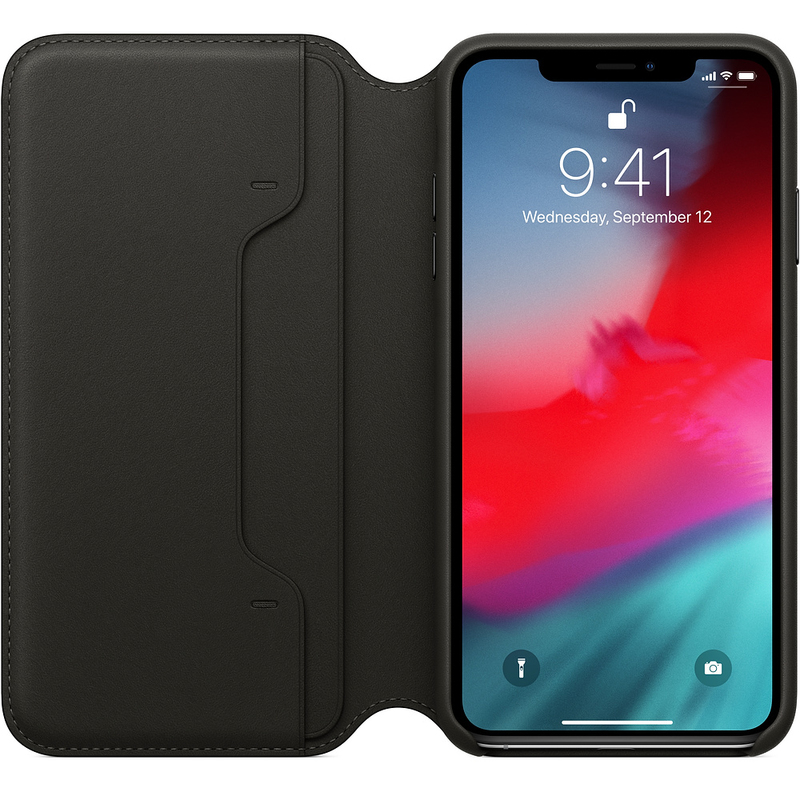 pretty nice 4bf75 c9c76 Apple Leather Folio Black for iPhone XS Max