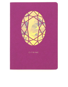 Portico Design Citrine Birthstone Maroon A6 Notebook