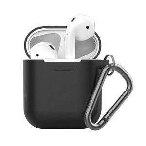 Keybudz PodSkinz Cover Black with Keychain for AirPods
