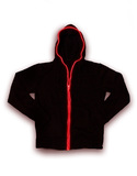 Electro Hoodie Black/Red Unisex Light-Up Hoodie Xl