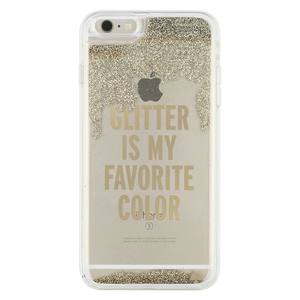 Kate Spade New York Liquid Glitter Case Glitter Is My Favorite Color Gold/Clear iPhone 7