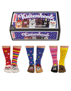 United Oddsocks Kittenheels Girls Socks [3 Pairs]