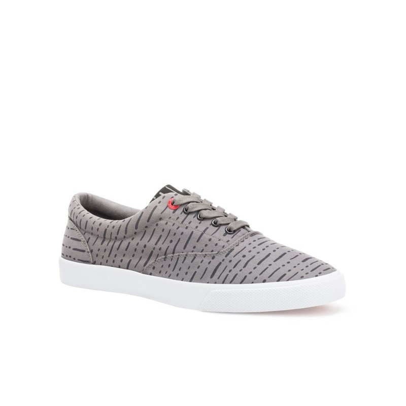 Bucketfeet The Dro Charcoal Low Top Canvas Lace Men'S  Shoes Size 8