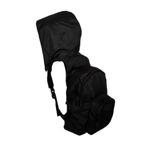 Morikukko Kool Black/Black Mesh Hooded Backpack