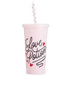 Ban.do Sip Sip Tumbler With Straw Love Potion