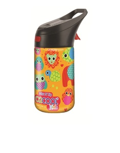O2Cool Owl Pattern Prism Brighton Mist N Sip Top 12 Oz Water Bottle