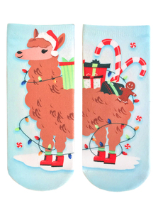 Living Royal Christmas Llama Women's Ankle Socks