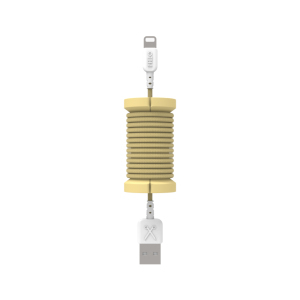 Philo Spool Gold Lightning MFI Cable with Cable Organizer