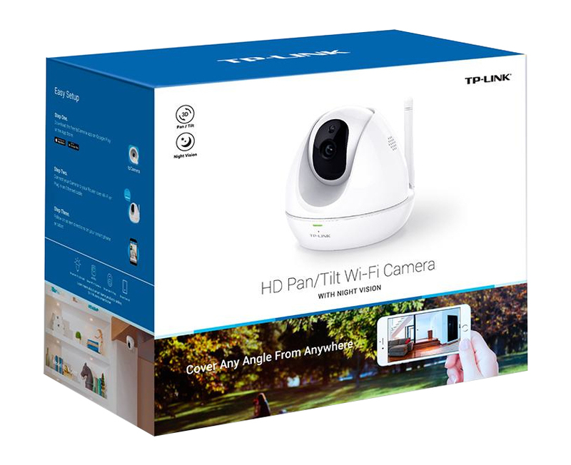 TP-Link Hd Pan/Tilt Wi-Fi Camera Night Vision
