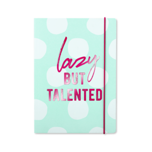 Go Stationery Lazy But Talented Kraft Typo A5 Notebook