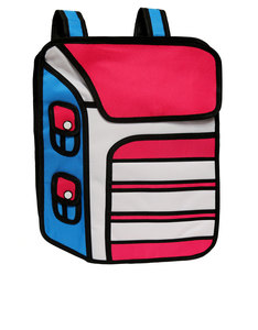 JumpFromPaper Cartoon Striped Jumbo Backpack