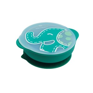 Marcus N Marcus Suction Bowl with Lid Ollie Green