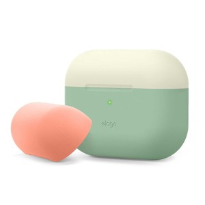 Elago Duo Case Top Classic White/Peach Bottom Pastel Green for AirPods Pro