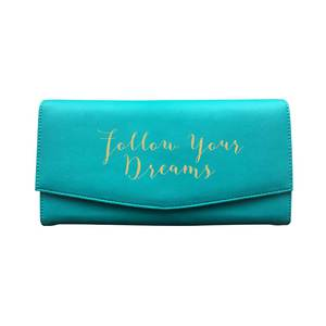 Bombay Duck Follow Your Dreams Aqua Travel Wallet