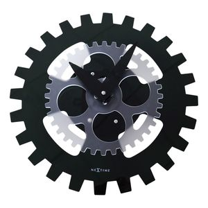 Nextime Moving Gears Wall Clock Black