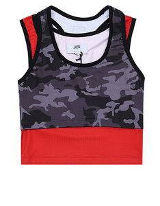 Sixth June Sports 2 in 1 Top Black Camo
