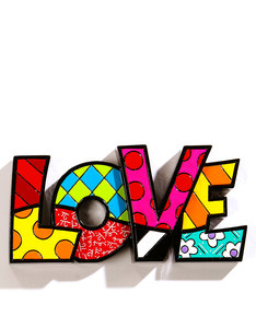 Romero Britto Love Word Decor Figurine