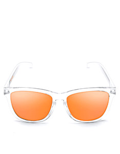 Emoji Total Custom Bright White/Orange Adult Sunglasses