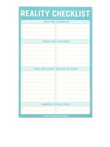 Knock Knock Reality Checklist Classic Pad
