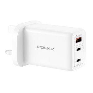Momax OnePlug 65W 3-Port GAN Charger White