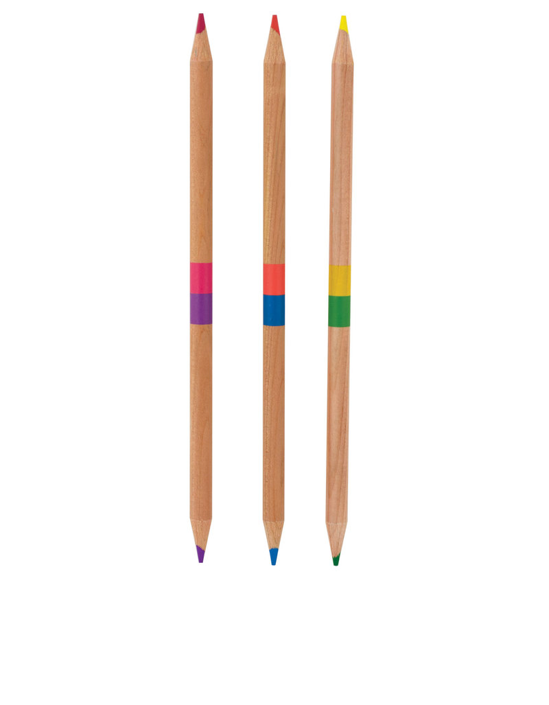2 Of A Kind Double Ended Colored Pencils [Set Of 12]