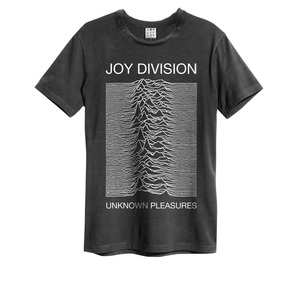 Amplified Joy Division Unknown Pleasures Charcoal Men's T-Shirt L