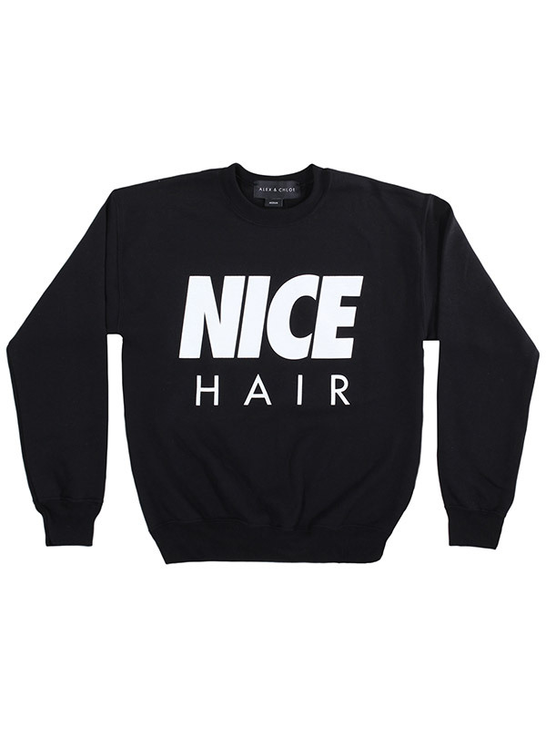 Alex & Chloe Nice Hair Black/White Jumper M