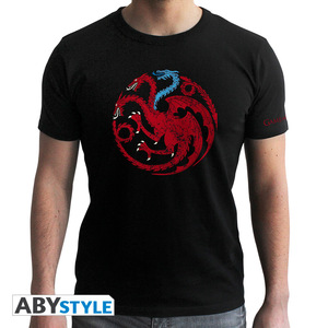 Abystyle Game Of Thrones Targaryen Viserion Black Men's T-Shirt L