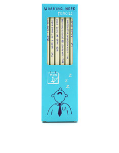 Ustudio Working Week Sharp & Blunt Pencils [Set of 6]