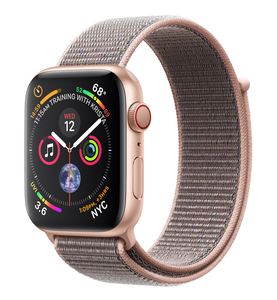 Apple Watch Series 4 GPS +Cellular 44mm Gold Aluminium Case with Pink Sand Sport Loop