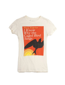 I Know Why Caged Bird Sings Natural T-Shirt Women's