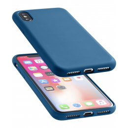 finest selection dd9d9 9be39 Cellular Line Soft Touch Case Blue For iPhone X