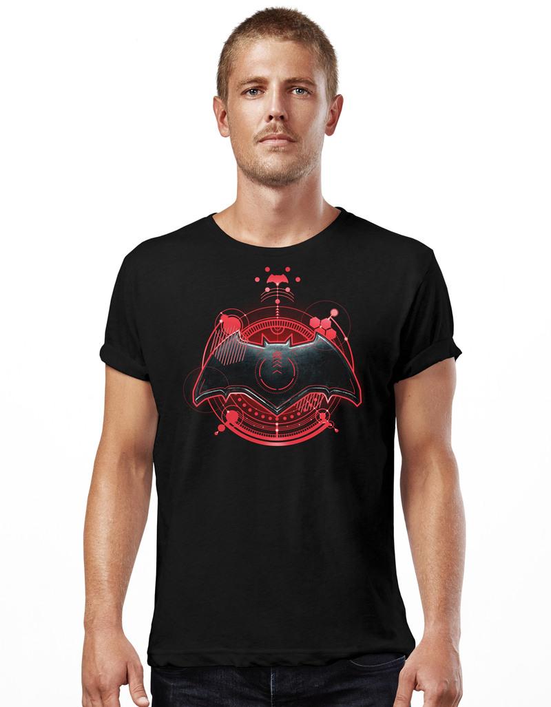 Cid Justice League Movie Batman Symbol Black Unisex T Shirt Tops