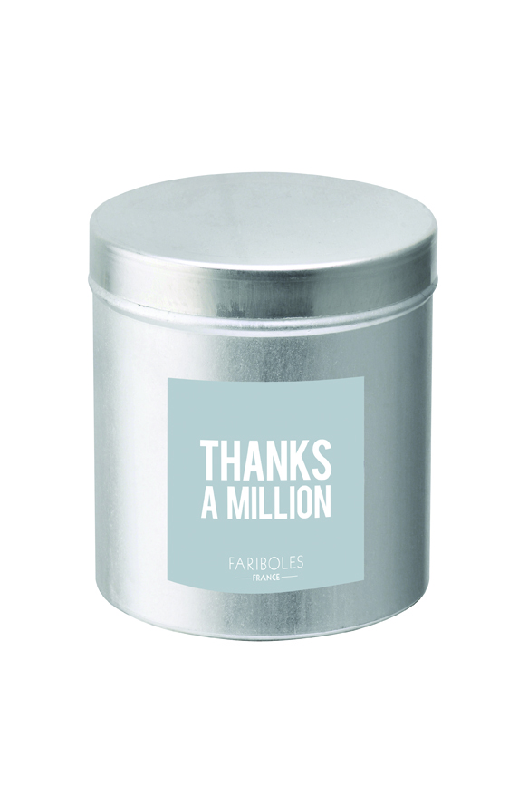 Bougie Message Thanks A Million Grey Candle