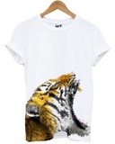 Distinkt Youth Tiger Bottom White Unisex T-Shirt L