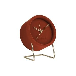 Karlsson Alarm Clock Lush Velvet Clay Brown