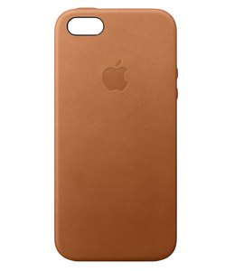 Apple Leather Case Saddle Brown For iPhone SE