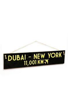 I Want It Now Dubai-New York Wooden Sign