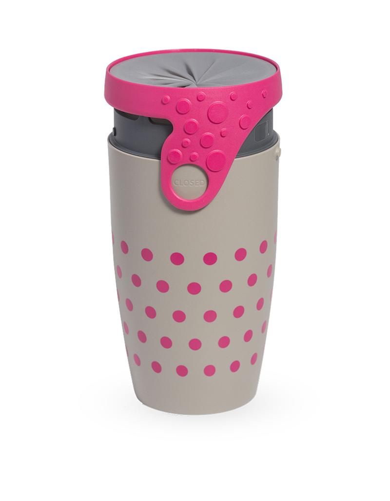 Twizz Neolid Charlotte Travel Mug Grey/Pink
