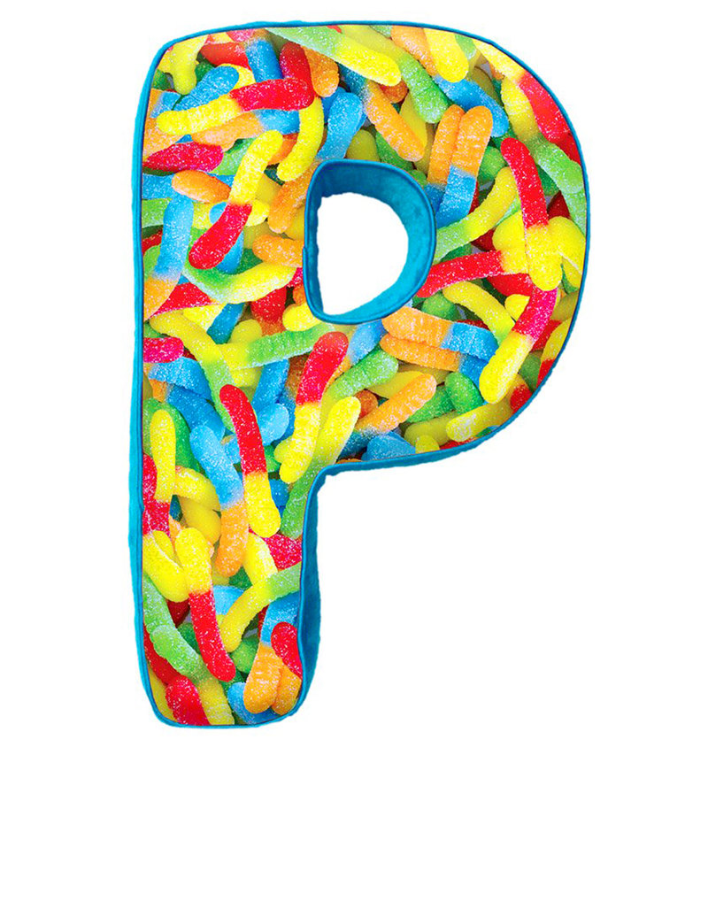 Iscream P Initials Microbead Pillow